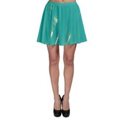 Background Green Abstract Skater Skirt