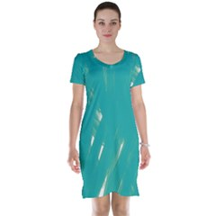 Background Green Abstract Short Sleeve Nightdress