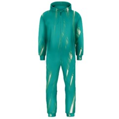 Background Green Abstract Hooded Jumpsuit (men)