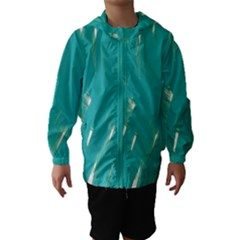 Background Green Abstract Hooded Wind Breaker (kids)