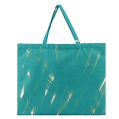 Background Green Abstract Zipper Large Tote Bag