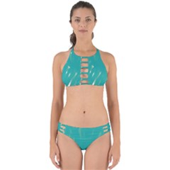 Background Green Abstract Perfectly Cut Out Bikini Set