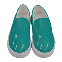 Background Green Abstract Women s Canvas Slip Ons