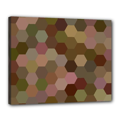 Brown Background Layout Polygon Canvas 20  X 16