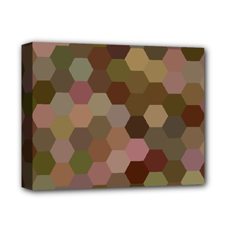 Brown Background Layout Polygon Deluxe Canvas 14  X 11