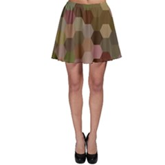 Brown Background Layout Polygon Skater Skirt