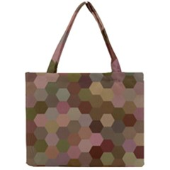 Brown Background Layout Polygon Mini Tote Bag