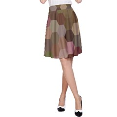 Brown Background Layout Polygon A Line Skirt
