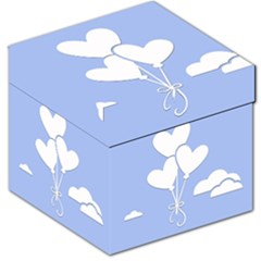 Clouds Sky Air Balloons Heart Blue Storage Stool 12