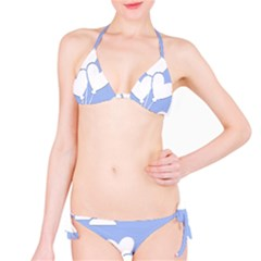 Clouds Sky Air Balloons Heart Blue Bikini Set