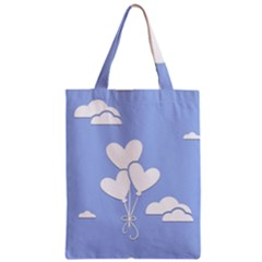 Clouds Sky Air Balloons Heart Blue Classic Tote Bag