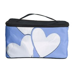 Clouds Sky Air Balloons Heart Blue Cosmetic Storage Case