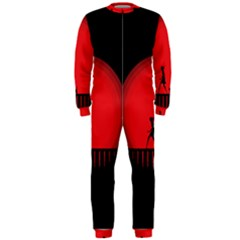 Girl Cat Scary Red Animal Pet Onepiece Jumpsuit (men)