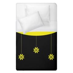 Flower Land Yellow Black Design Duvet Cover (single Size)