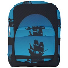 Ship Night Sailing Water Sea Sky Full Print Backpack