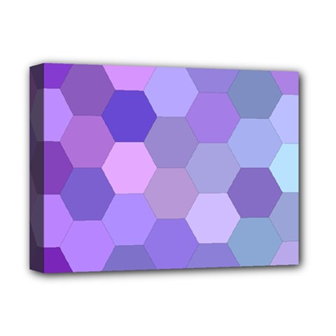 Purple Hexagon Background Cell Deluxe Canvas 16  X 12