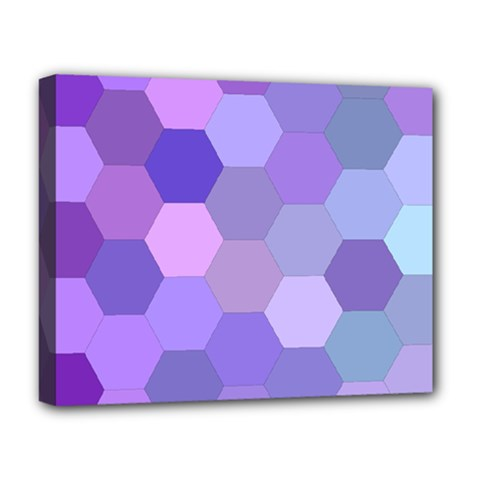 Purple Hexagon Background Cell Deluxe Canvas 20  X 16