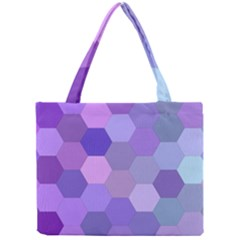 Purple Hexagon Background Cell Mini Tote Bag
