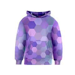 Purple Hexagon Background Cell Kids  Pullover Hoodie