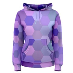 Purple Hexagon Background Cell Women s Pullover Hoodie