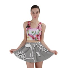 Flower Heart Plant Symbol Love Mini Skirt