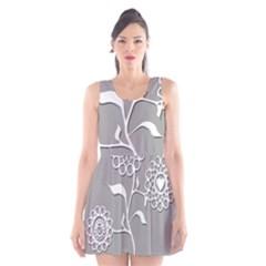 Flower Heart Plant Symbol Love Scoop Neck Skater Dress