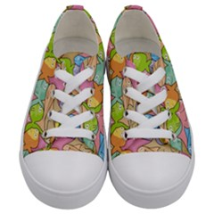 Fishes Cartoon Kids  Low Top Canvas Sneakers