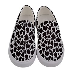 Cow Pattern Background Women s Canvas Slip Ons