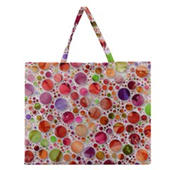 Lovely Shapes 2a Zipper Large Tote Bag