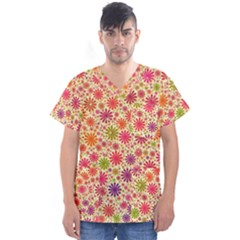 Lovely Shapes 3c Men s V Neck Scrub Top