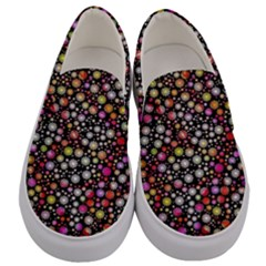 Lovely Shapes 4a Men s Canvas Slip Ons