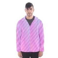 Diagonal Pink Stripe Gradient Hooded Wind Breaker (men)