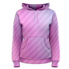 Diagonal Pink Stripe Gradient Women s Pullover Hoodie