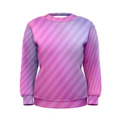 Diagonal Pink Stripe Gradient Women s Sweatshirt