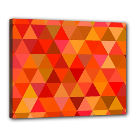 Red Hot Triangle Tile Mosaic Canvas 20  X 16