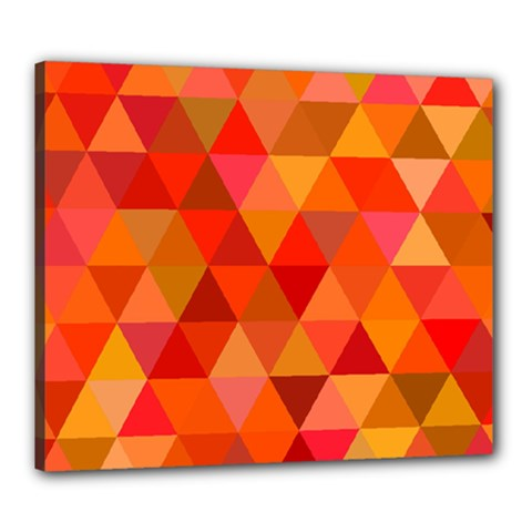 Red Hot Triangle Tile Mosaic Canvas 24  X 20