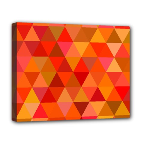 Red Hot Triangle Tile Mosaic Deluxe Canvas 20  X 16