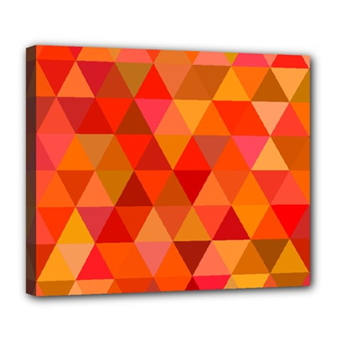Red Hot Triangle Tile Mosaic Deluxe Canvas 24  X 20
