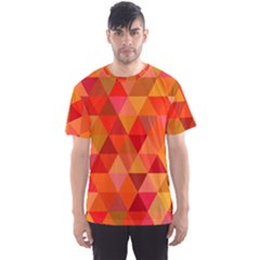 Red Hot Triangle Tile Mosaic Men s Sports Mesh Tee