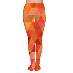 Red Hot Triangle Tile Mosaic Women s Tights
