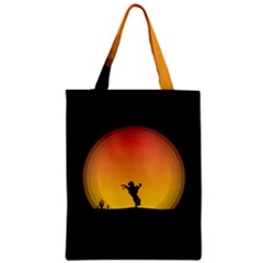 Horse Cowboy Sunset Western Riding Classic Tote Bag