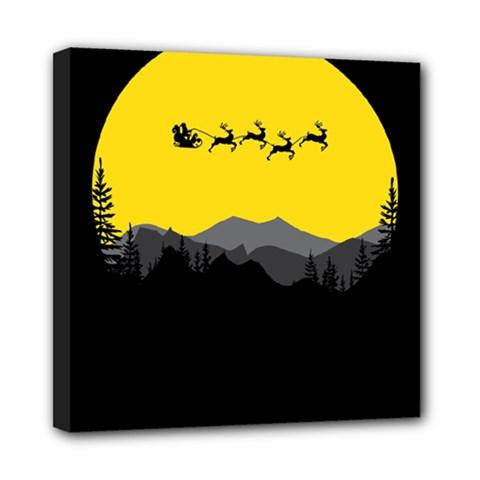 Christmas Dear Santa Claus Card Mini Canvas 8  X 8