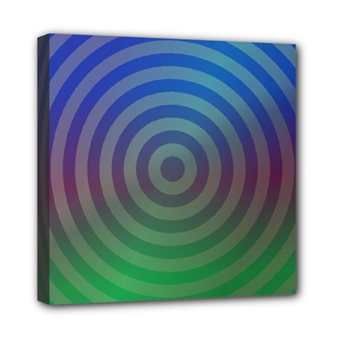 Blue Green Abstract Background Mini Canvas 8  X 8