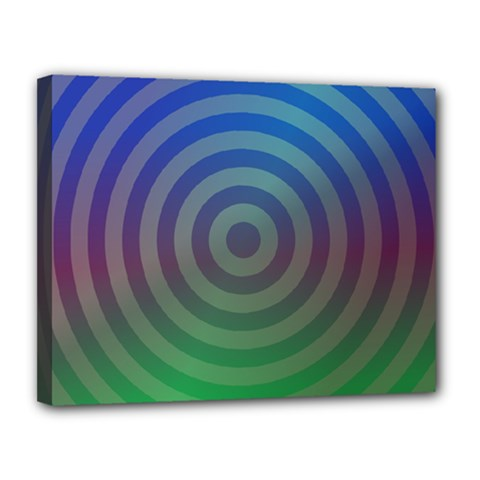 Blue Green Abstract Background Canvas 14  X 11