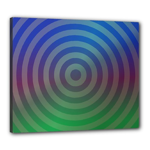 Blue Green Abstract Background Canvas 24  X 20