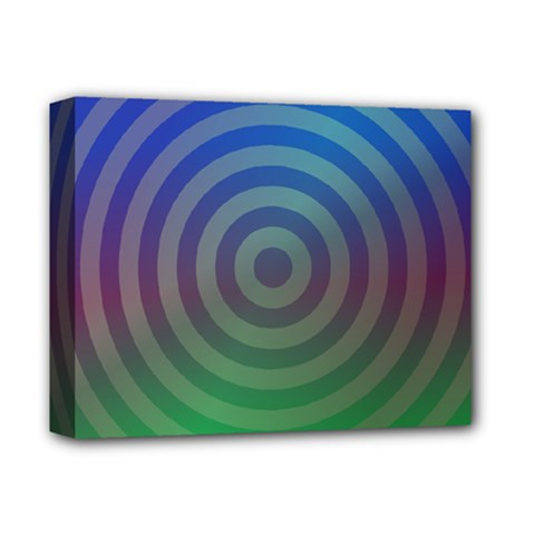 Blue Green Abstract Background Deluxe Canvas 14  X 11