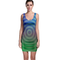 Blue Green Abstract Background Bodycon Dress