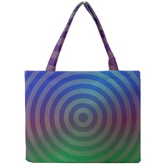 Blue Green Abstract Background Mini Tote Bag