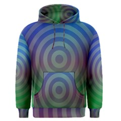 Blue Green Abstract Background Men s Pullover Hoodie
