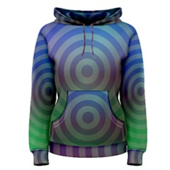 Blue Green Abstract Background Women s Pullover Hoodie